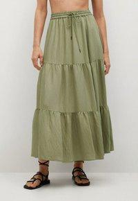 Mango - BAMBU - Maxi skirt - khaki - 3
