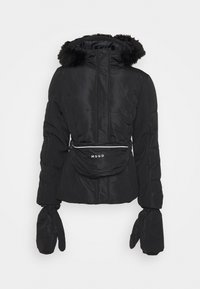 Missguided - SKI JACKET WITH MITTENS AND BUMBAG  - Winter jacket - black - 7