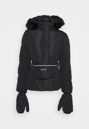 SKI JACKET WITH MITTENS AND BUMBAG  - Chaqueta de invierno - black