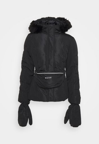 SKI JACKET WITH MITTENS AND BUMBAG  - Giacca invernale - black