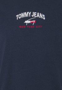 Tommy Jeans - TIMELESS SCRIPT TEE UNISEX - Print T-shirt - twilight navy - 5