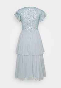 Maya Deluxe - DELICATE SEQUIN TIERED DRESS - Cocktail dress / Party dress - glacier blue