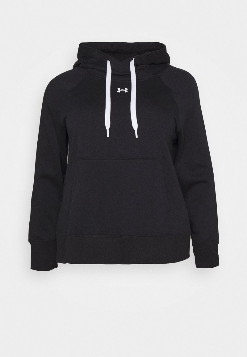 Under Armour - RIVAL HOODIE - Sweatshirt - black