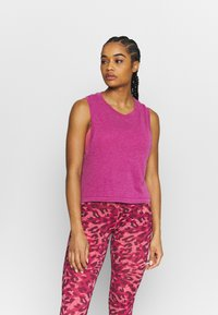 Cotton On Body - ALL THINGS FABULOUS CROPPED MUSCLE TANK - Top - boysenberry washed - 0