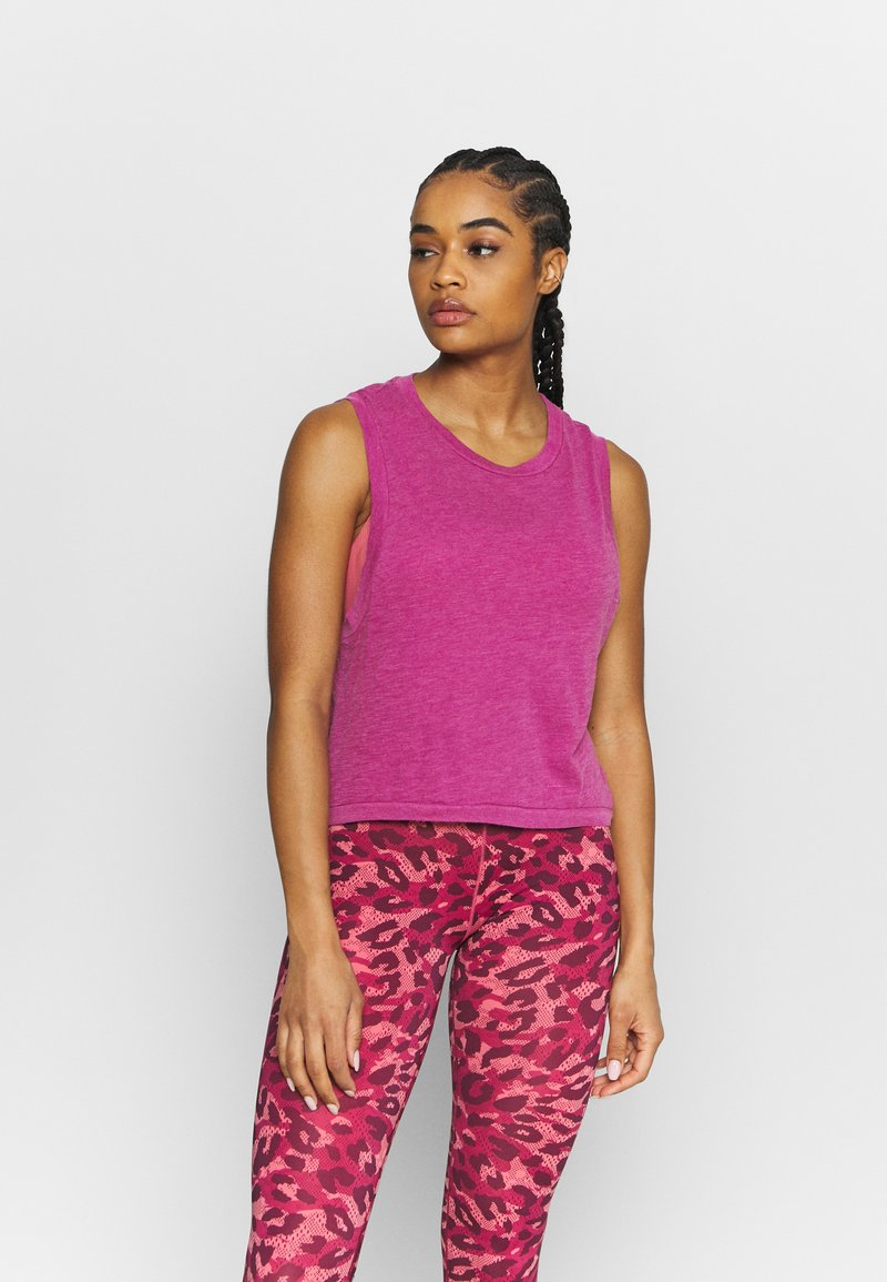 Cotton On Body - ALL THINGS FABULOUS CROPPED MUSCLE TANK - Top - boysenberry washed