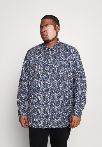 ALL OVER PRINTED STRETCH SHIRT - Shirt - navy