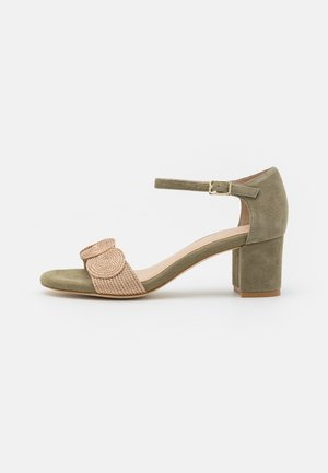 LEATHER COMFORT - Sandals - green