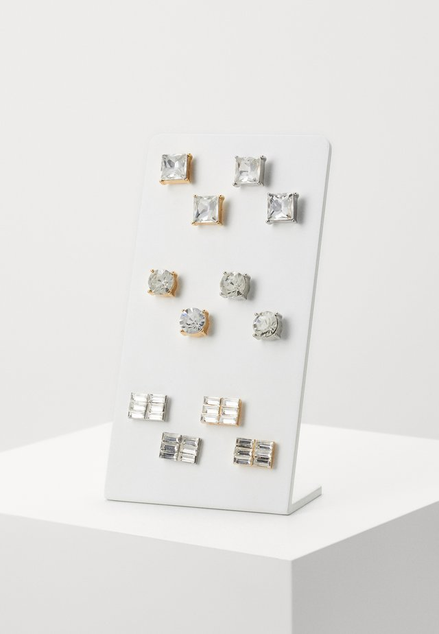 EARRING SET 6 PACK - Korvakorut - silver-coloured/gold-coloured