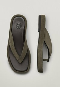 Massimo Dutti - T-bar sandals - evergreen - 4