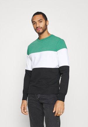 WHITEHALL - Sweatshirt - jade green/optic white/jet black