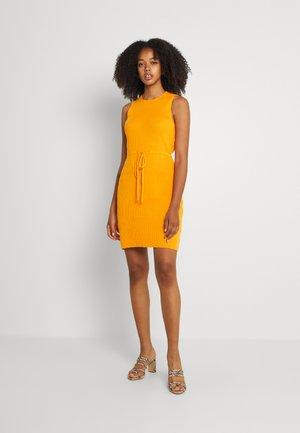 MINI DRAWSTRING DRESS - Shift dress - orange