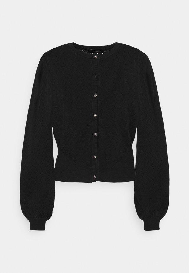ANEMONE MINNA CARDIGAN - Cardigan - black