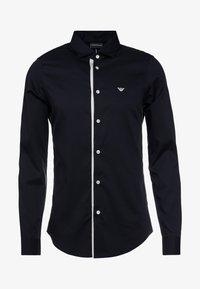 Emporio Armani - CAMICIA SLIM FIT - Formal shirt - blue navy - 5
