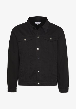 SLIM FIT JACKET - Džínová bunda - black