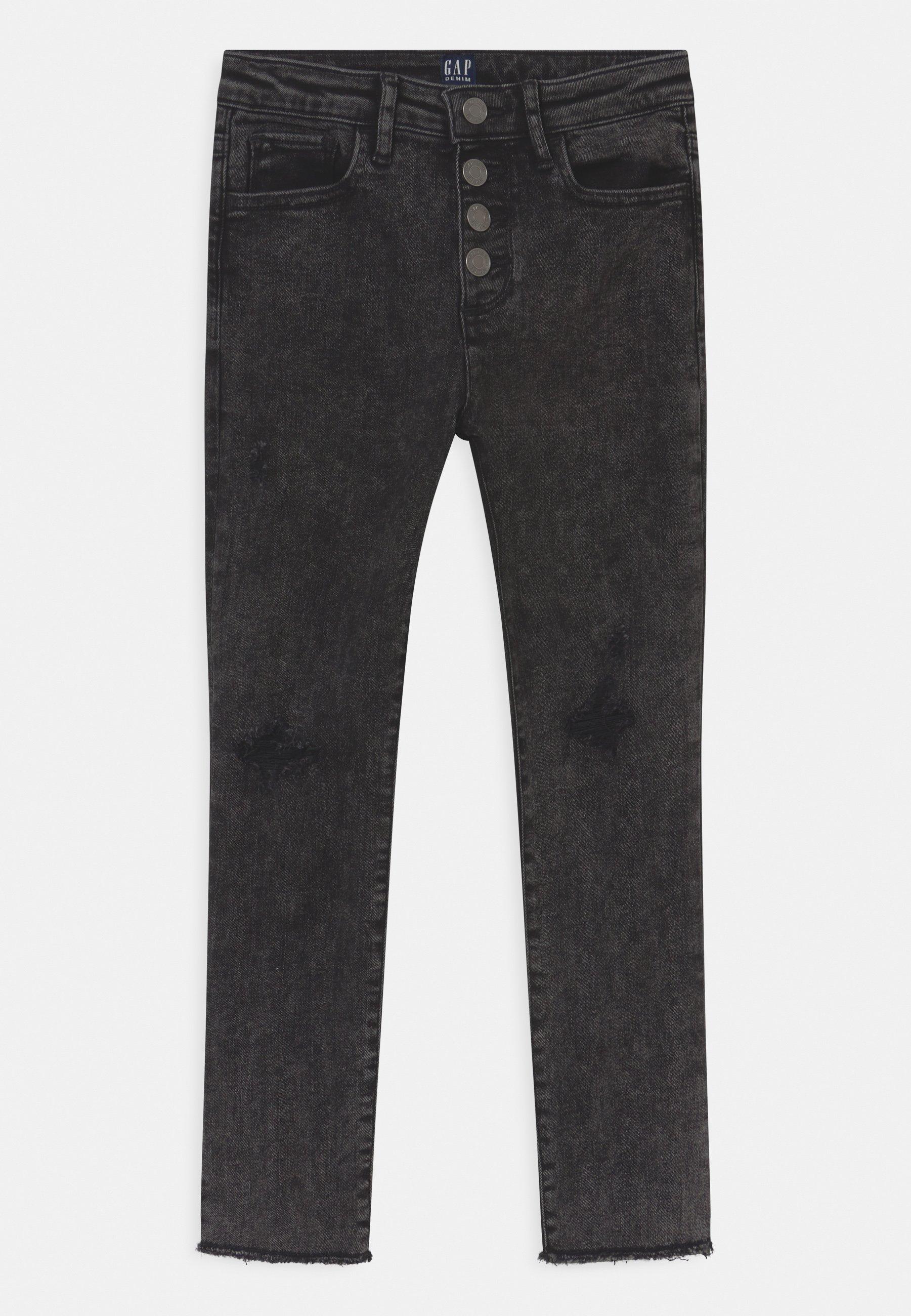 Kids GIRL ANK WASH - Slim fit jeans - black
