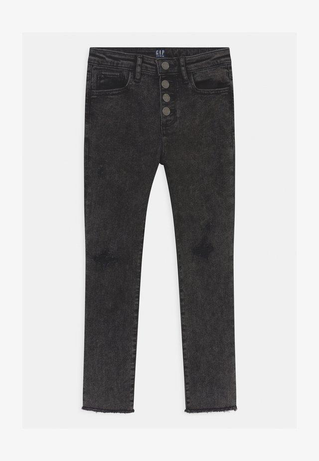 GIRL ANK WASH - Slim fit jeans - black
