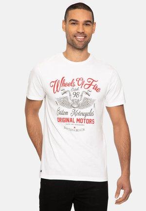 WHEELS - T-shirt med print - white
