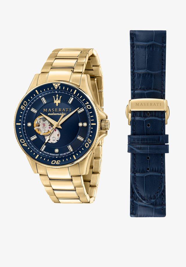 Horloge - gold/blau