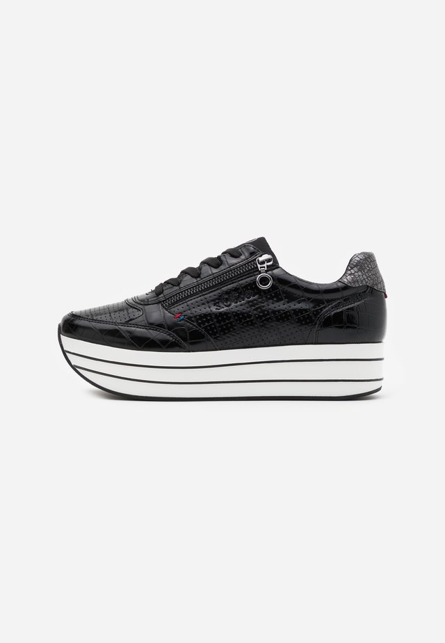 LACE UP - Sneakers laag - black