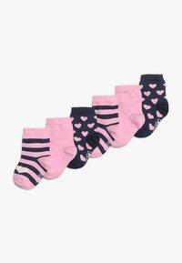 Ewers - HERZEN PUNKTE 6 PACK - Ponožky - tinte/altrosa - 0