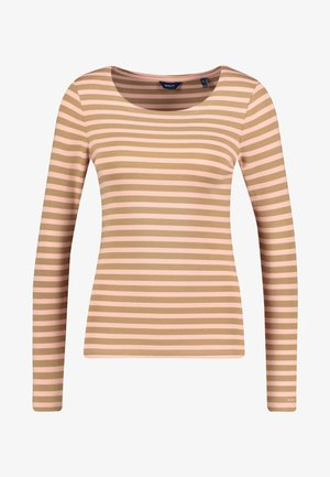 O1. 1X1 RIB LS T-SHIRT - Long sleeved top - khaki