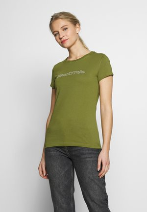 SHORT SLEEVE ROUND NECK - Print T-shirt - seaweed green