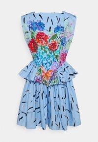 Christopher Kane - FLORAL CUPCAKE MINI DRESS - Vestito elegante - blue - 5