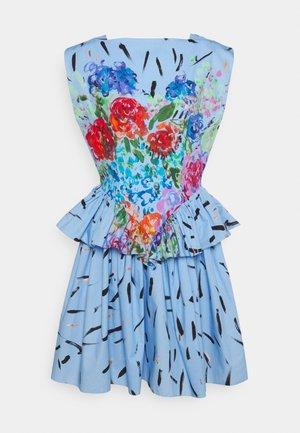 FLORAL CUPCAKE MINI DRESS - Cocktail dress / Party dress - blue
