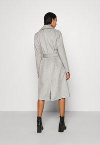 Pieces - PCSISUN JACKET - Classic coat - light grey melange - 2