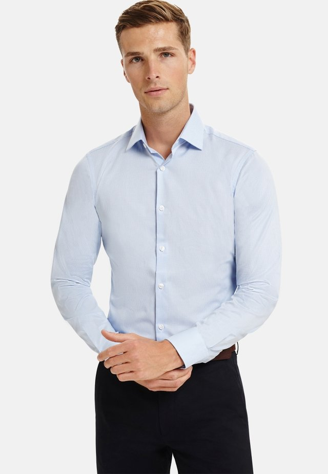 GINGHAM SUPPER FITTED - Formal shirt - blue