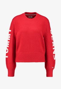 Tommy Jeans - LOGO SLEEVE DETAIL - Pullover - racing red - 3
