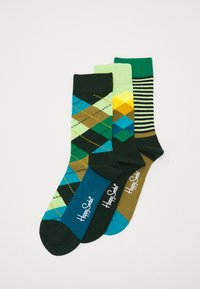 Happy Socks - CLASSICS 3 PACK UNISEX - Socks - multi greens - 0