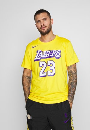 NBA LOS ANGELES LAKERS LEBRON JAMES CITY EDITION NAME NUMBER - Club wear - amarillo