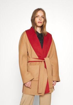 LANGARM - Classic coat - camel doub