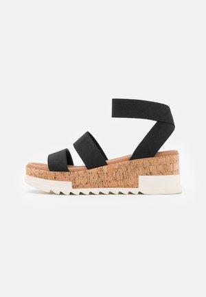 PORTSEA - Platform sandals - black