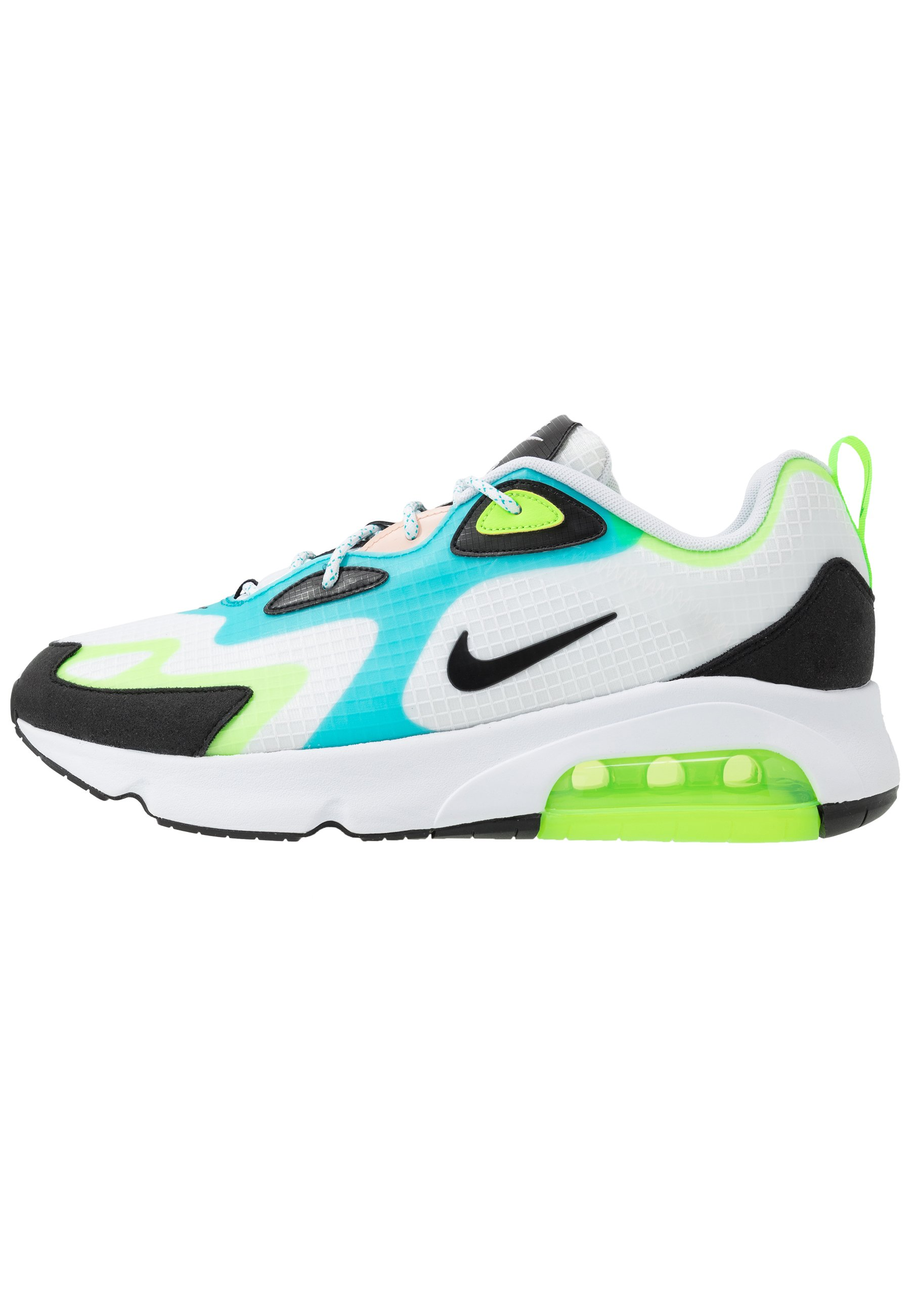 AIR MAX 200 SE - Sneakers laag - white/black/electric green/oracle  aqua/washed coral