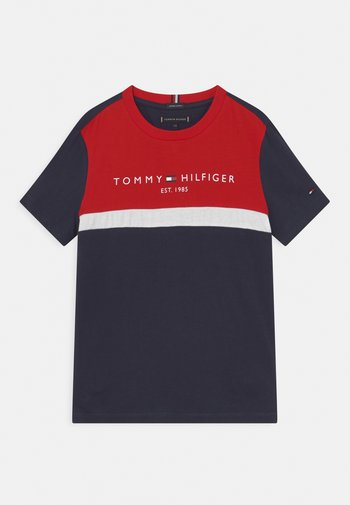 ESSENTIAL COLORBLOCK TEE - T-shirts med print - twilight navy