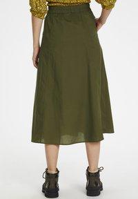 Gestuz - CASSIAGZ  - A-line skirt - dark olive - 2