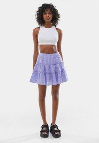 Bershka - SWISS - A-line skirt - mauve - 1