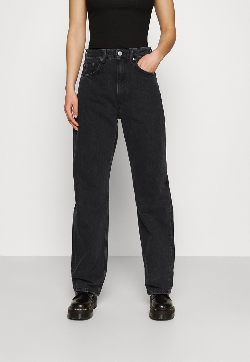 Weekday - FLOAT  - Relaxed fit jeans - washed black