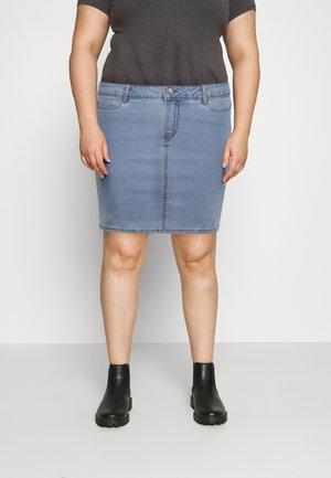 VMHOT SKIRT - Mini skirt - light blue denim