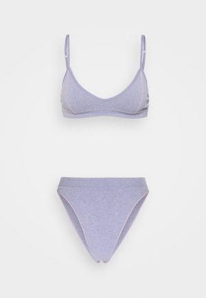 SEAMFREE TRIANGLE SET - Triangle bra - periwinkle marle