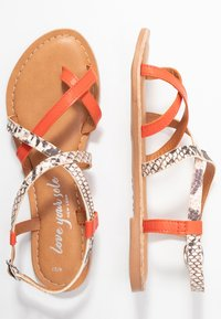 New Look - HAMMOCK - Sandály s odděleným palcem - orange/yellow - 3