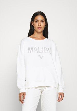 BOXY CREW NECK MALIBU - Mikina - blanc