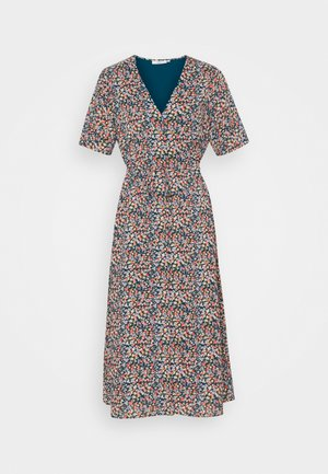 BIOLA - Shirt dress - teal