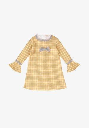 SHEPHERD CHECK  - Day dress - mostaza