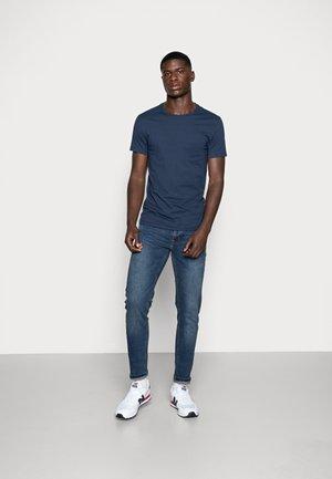 SLIM CREWNECK 2 PACK - T-shirt - bas - blues/white