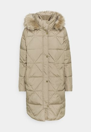 Down coat - almond
