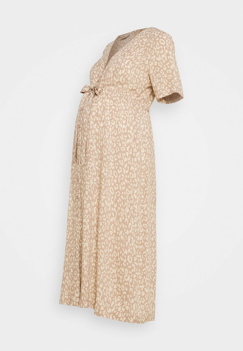 Pieces Maternity - PCMBECCA MIDI DRESS - Sukienka letnia - natural