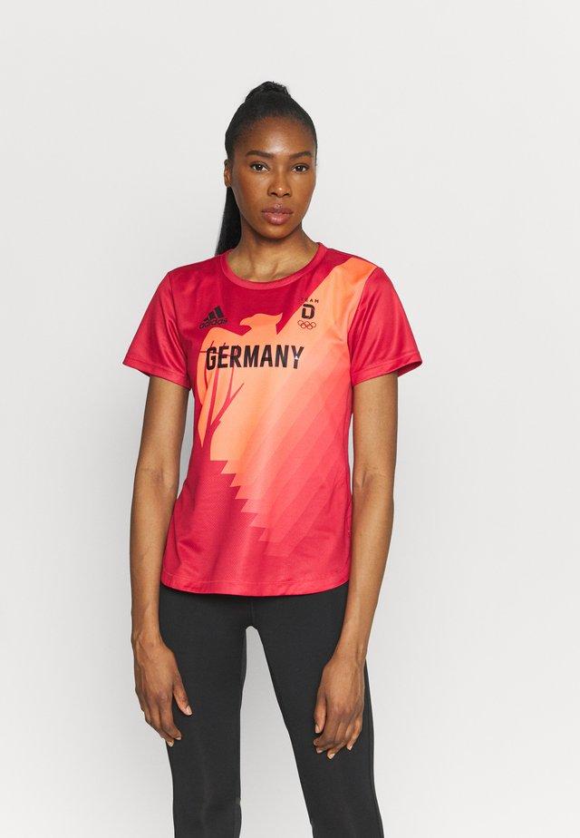 TEE - Print T-shirt - glored/black